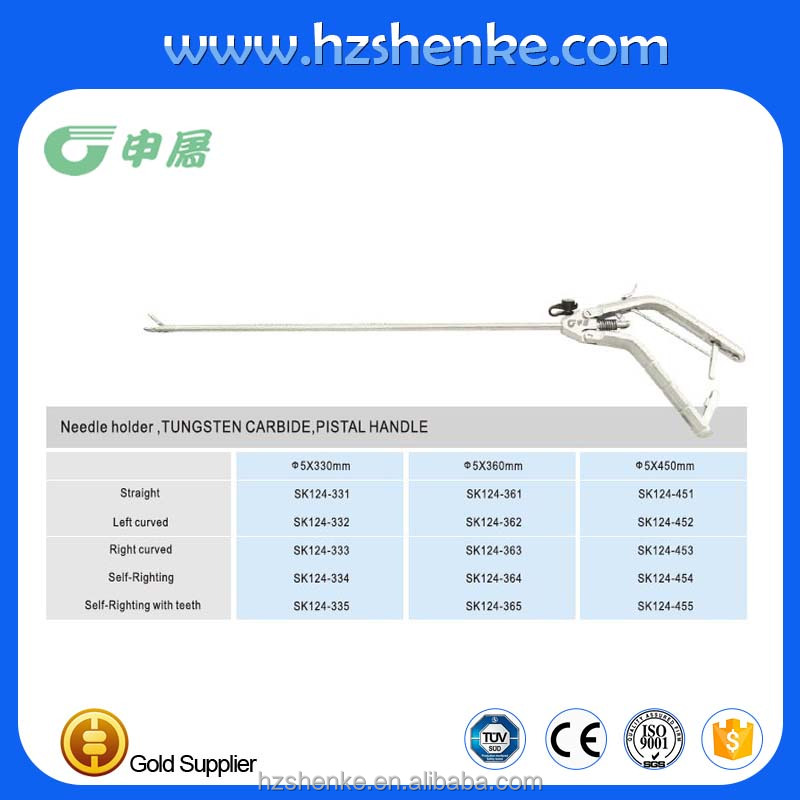 laparoscopic curved needle holder direct from China manufacturer