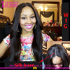 Wholesale brazilian virgin hair silk top glueless wig accept sample order silk top lace front wig