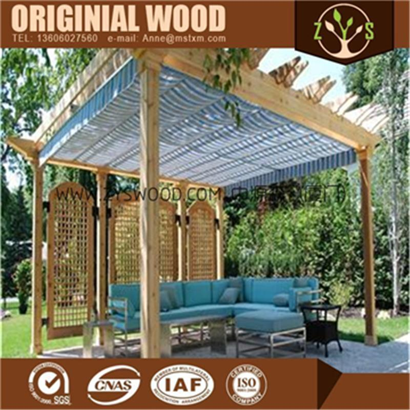 Hot sell pergola is made of scots pine with good quality