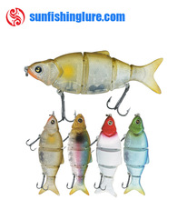 multi joint lure Baitfish 5 joint baitfish hard lure realistic appearance jointed trout lure fishing bait