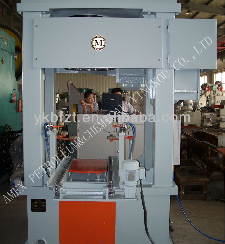 Vertical Crimper Machine / Neck-in or shrinking top machine for steel drum 220lt making machine or steel barrel production line