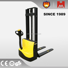 1000KG 3000mm Full electric powered motorized pallet stacker