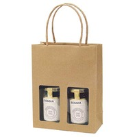 custom made recycled brown wine bottle paper bag