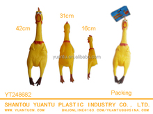 TPR Rubber Sticky Animal Yellow Chicken interesting squeezable soundable shrilling toys