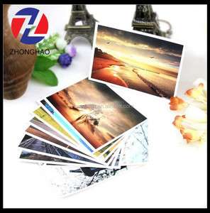 new arrived wholesale creative custom made white card printed elegant postcard