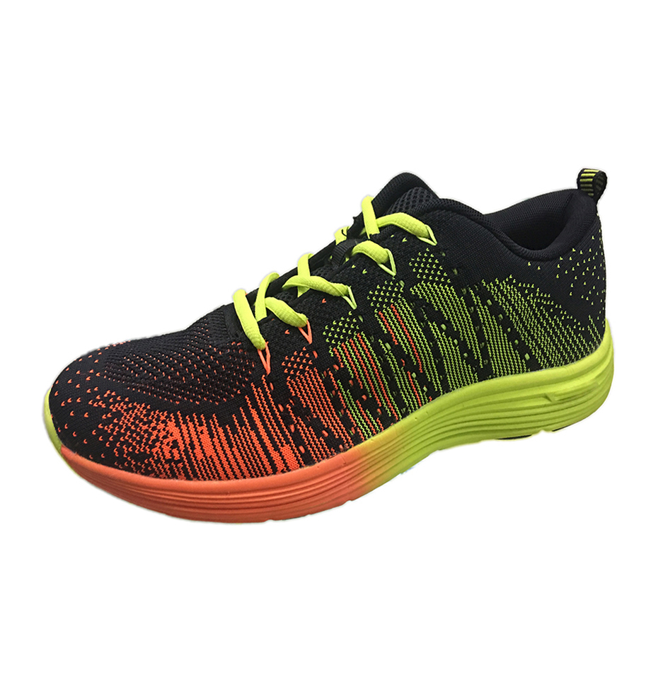 Men Famous Brand Flykniting Bright Color Running Shoes Market