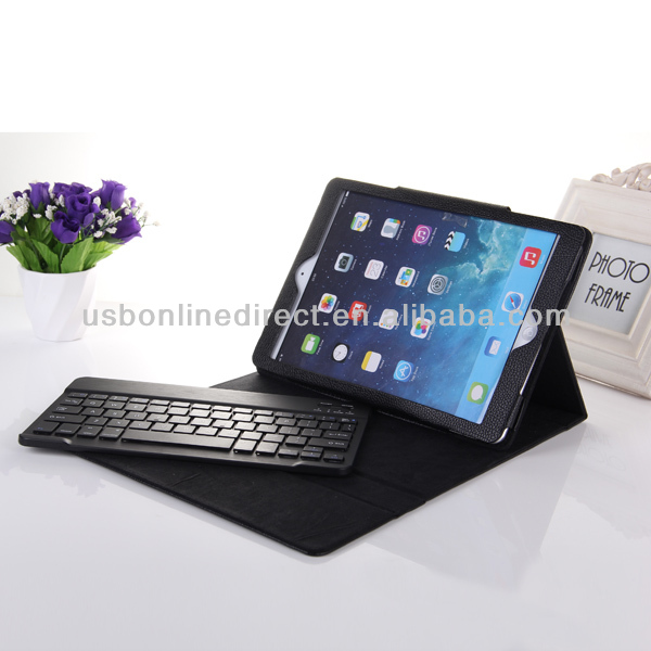 Wholesale bluetooth keyboard for ipad 5 air case foldable detachable