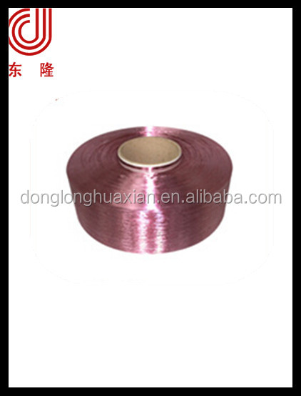 hangzhou supplier polyester fdy yarn dope dyed Brick 600D/192F