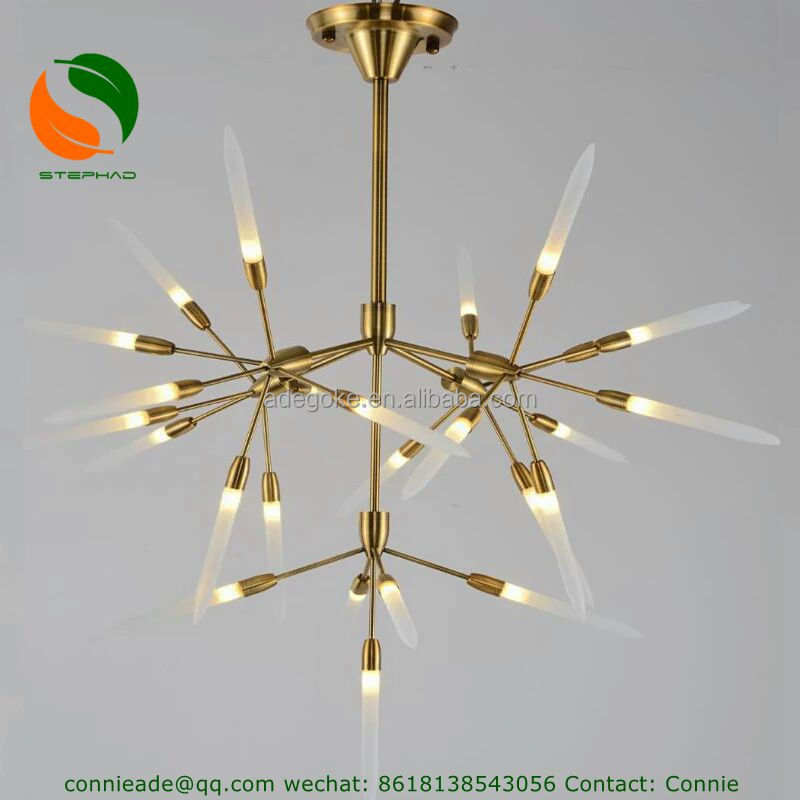 modern industrial Firefly mirror branch vintage LED pendant lamp/lights