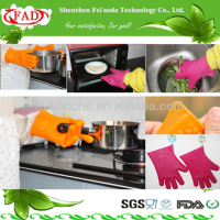 Five Fingers Durable Fashion Design Food Grade Silicone Gloves