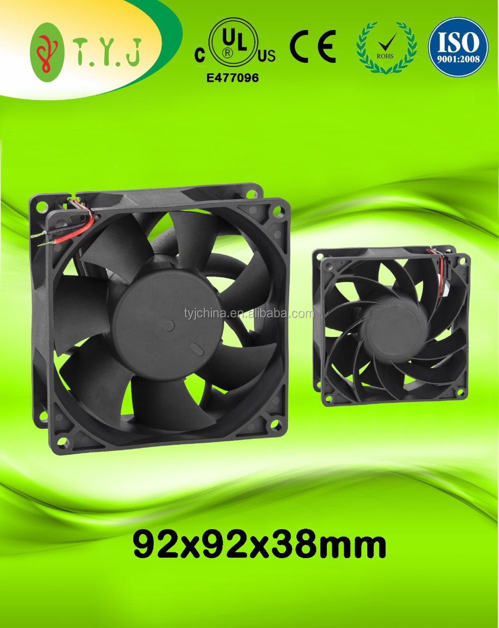 48v 92x92x38mm dc cooling fans with SUPER HIGH air flow and pressure