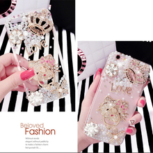 OEM cellphone factory rhinestone TPU mobile phone case material plastic crystal mobile back cover For iphone 5s / 6s phone case