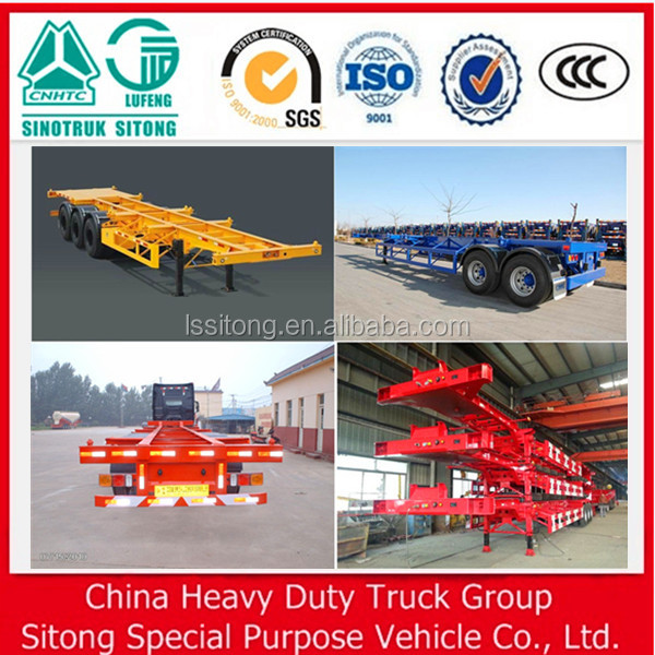 40T 3 axle Container chassis trailer Skeleton Container Shipping Trailer