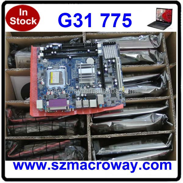 China cheapest dual socket 775 motherboard DDR2