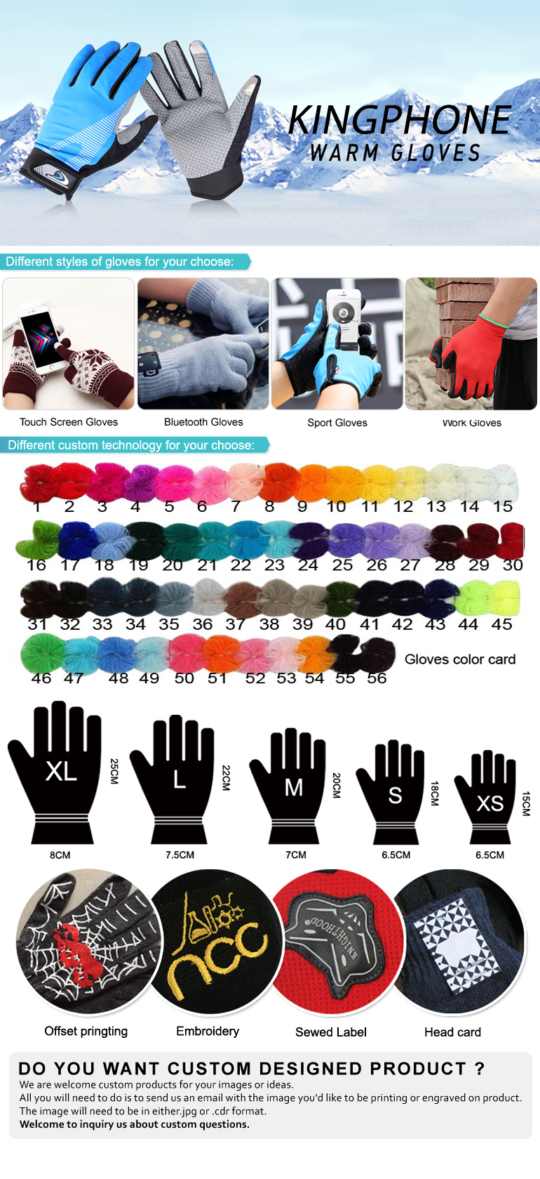 Acrylic Winter Warm Gloves