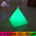 Rechargeable plastic colorful led table lamp pyramid for ourdoor