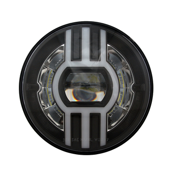 DOT jeep motorcycle 7 inch round led sealed beam headlight