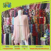producer from China factory wholesale pink acrylic fashion lady's crochet scarves and shawls