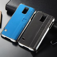 Novelty Electronic Rechargeable Smoking Electroplated PC Hard Cigarette Lighter Case for Samsung Galaxy S5