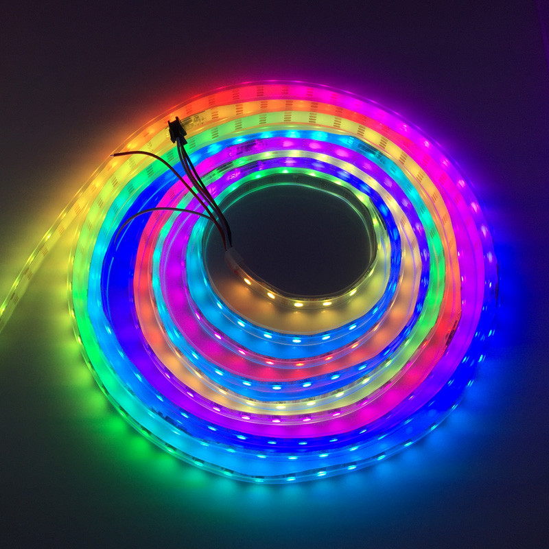 waterproof IP65 rgb dream color pixel 60 <strong>leds</strong> per meter small 5050 smd rainbow ws2812b rgb <strong>led</strong> strip
