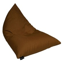 Bean bag chair premium cozy foam filled cozy lounger large brown