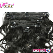 XBL Different Human Hair Quality Brazilian 8-32 Body Wave Clip-In Hair Extension