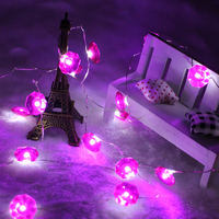 Diamond holiday decoration starry fairy 3m 40leds copper wire LED string lights with remote control