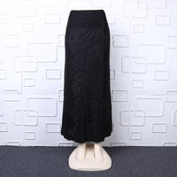 Sexy muslim girls skirt appliqued beaded long skirt islamic clothing for women