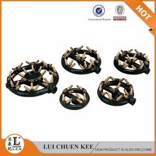 High quality brass nozzle jet gas burner with 16 tips