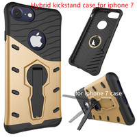 Slim armor 360 degree rotation hybrid kickstand mobile phone case for iphone 7