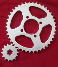 big and small motorcycle sprocket