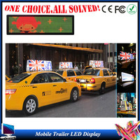 Taxi roof P6 LED Digital Full Color 3G GPS Worldwide Quality Taxi Top Advertising