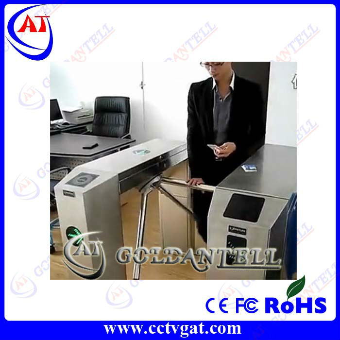 RFID card reader electronic automatic pedestrian barrier gate