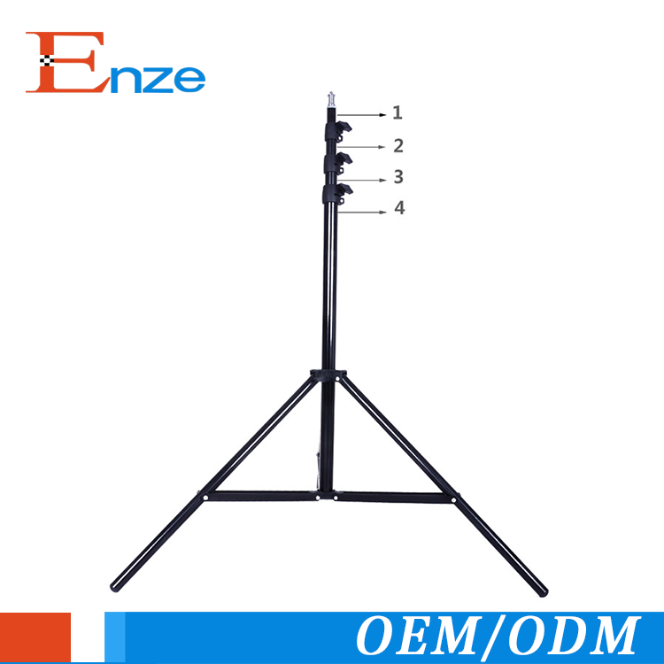 professional photography aluminum light stand for photo studio accessories aluminum tripod light stand