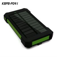 Universal 10000mAh Portable Dual USB External Solar Power Bank /Backup Battery Charger 10000Mah for iPhone Other Smartphone