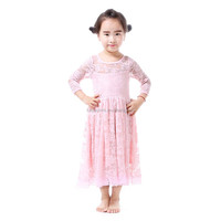 kids clothes children frocks designs dress solid baby pink girls dress