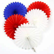 Wedding Christmas Decoration Tissue Paper Rosette Fans with Different sizes and Colors Pinwheel Hanging Paper Fans