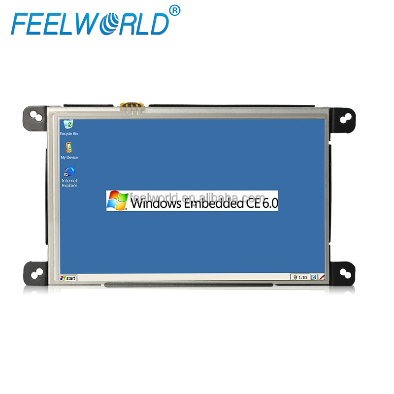 Feelworld 8 inch industrial touch screen <strong>computer</strong> with rj45,rs232 inputs win ce OS systems