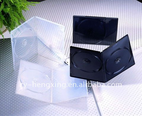 PP translucent dvd case 14mm dvd boxes