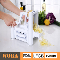 As Seen On TV 3 In 1 Plastic Sprial Slicer Tri-Blade Spiralizer