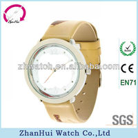 New products wholesale fashion brightly watches waterproof cool leather children big round face luxury watch