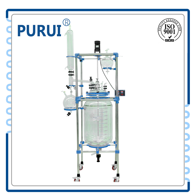 30L Double Jacketed Glass Reactor for Lab Use