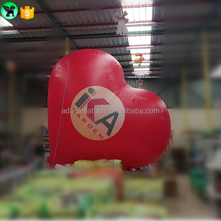 Valentine's Day custom logo giant 4m high inflatable red heart for party decoration ST607