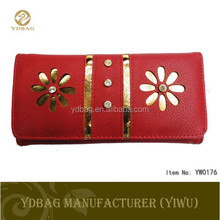 Fashion trends embroidered leather wallets and purses