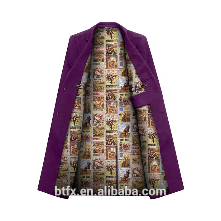 300T digital printed customized lining for men suit