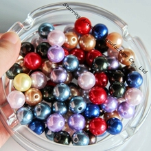 Custom Sizes Colored Decorative Pearl Round Loose Beads