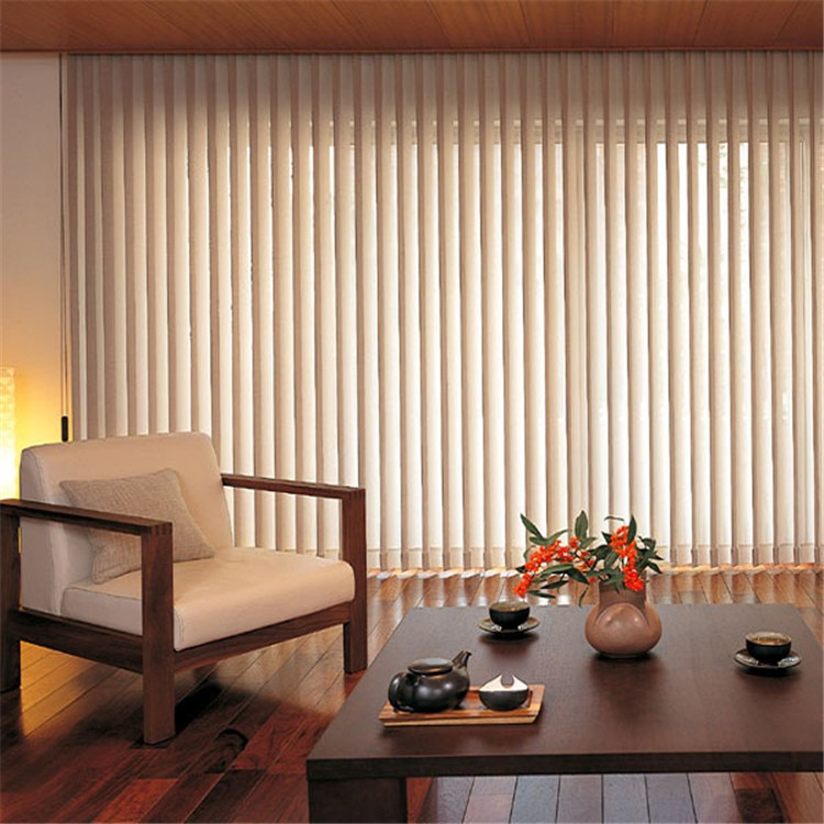 Modern Remote Control Slim Lowes Polyester String Curtain Vertical Blind