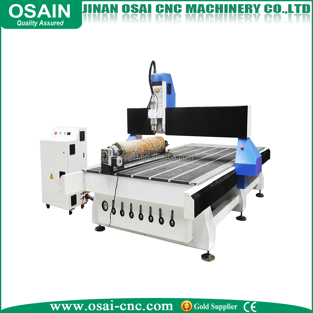 best price YAKO driver china 3d 1325 4 axis wood cnc router with rotary axis