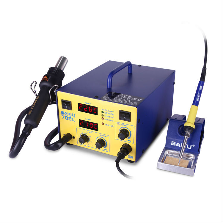 Baku BK-702L 2 in 1 BGA digital display SMD soldering station with hot air gun for mainboard