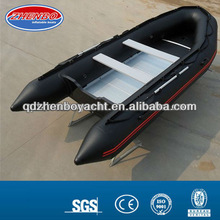 4.5m In stock (CE) PVC material optioanl floor color fold 2012 best-selling inflatable boats